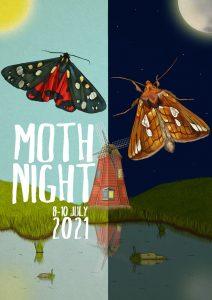moth night 2021 poster
